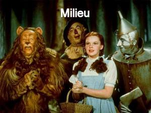 The Wizard of Oz is an example of the milieu story model.
