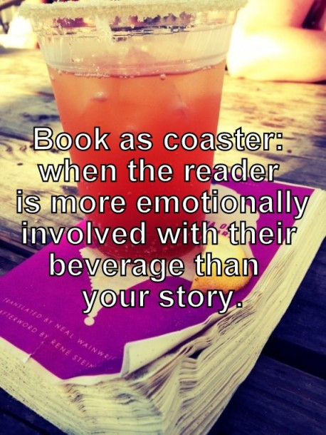 Readers should care more about the book than their beverage.