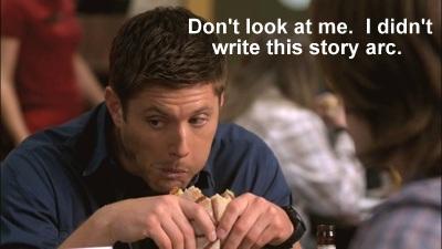 Dean eats a Turducken Sandwich.