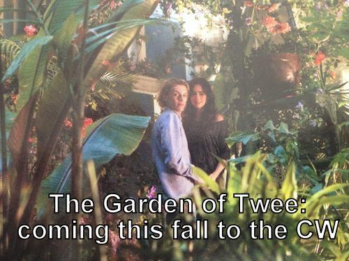 Jace and Clary in the Garden of Twee