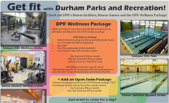 Part of a perfectly lovely flyer advertising the City of Durham's gyms & pools I have never, ever seen displayed anywhere.